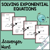 Solving Exponential Equations Activity - Scavenger Hunt