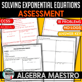 Solving Exponential Equations - Assessment