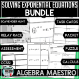 Solving Exponential Equations BUNDLE