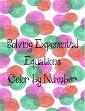 Solving Exponential Equations Color by Number