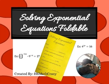 Solving Exponential Equations Foldable