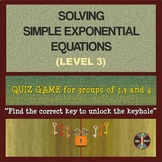 Exponential Equations Level 3 (Advanced) - Group Activity