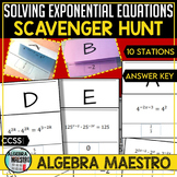 Solving Exponential Equations - Scavenger Hunt