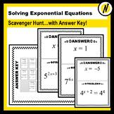 Solving Exponential Equations Scavenger Hunt