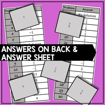 Solving Exponential Equations - Task Cards