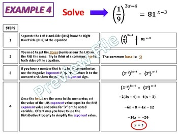 Solving Exponential Equations (using Algebra & Graphing and without Logarithms)