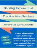 Solving Exponential Function Word Problems Around the World Activity