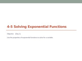 Solving Exponential Functions