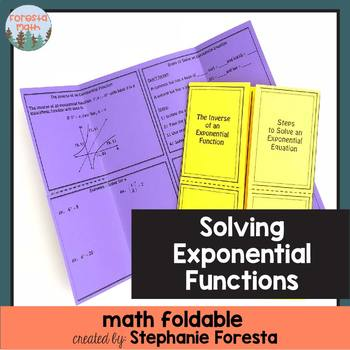 Solving Exponential Functions Foldable