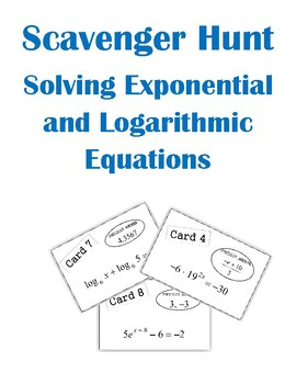 Solving Exponential And Logarithmic Equations Teaching Resources