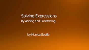 Solving Expressions by Adding and Subtracting 1 Powerpoint