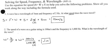 Solving For Wave Properties