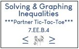 Solving & Graphing Inequalities- Partner Tic-Tac-Toe