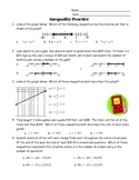 Solving & Graphing Inequalities, Scatterplot Review Test