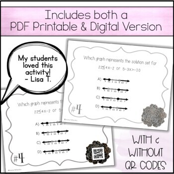 Solving & Graphing Inequalities - Task Cards