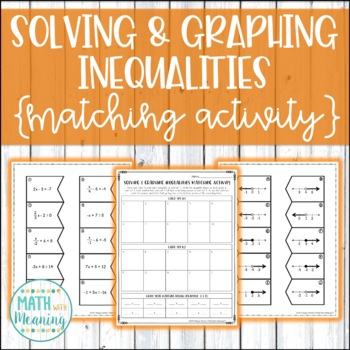 Solving & Graphing Inequalities (With Integers) Matching Activity - 7.EE.B.3