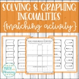 Solving & Graphing Inequalities (With Integers) Matching A