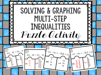 Inequality Puzzle Teaching Resources Teachers Pay Teachers