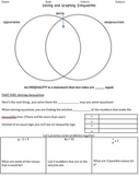 Solving & Graphing One Step Inequalities: Guided Notes and