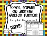 Quadratic Functions Graphic Organizer - Solving, Graphing,