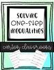 Solving Inequalities