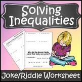 Solving Inequalities Activity {Solving Inequalities Worksheet Activity}
