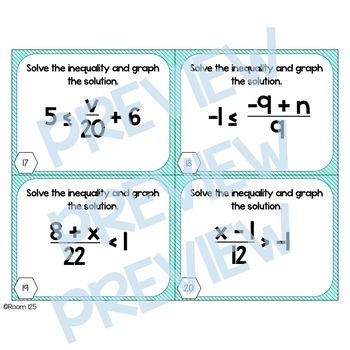 Solving Inequalities Bundle