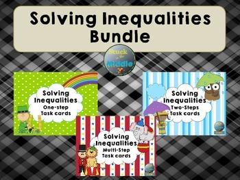 Solving Inequalities Bundle Task Cards