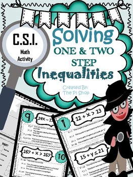 Solving Inequalities{C.S.I. MATH REVIEW}  BEGINNING/END OF THE YEAR