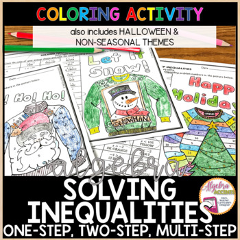 Solving Inequalities Differentiated Coloring Activities BUNDLE