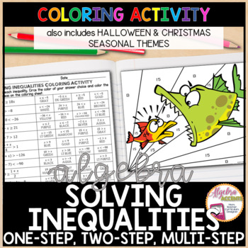 Solving Inequalities Differentiated Coloring Activities By Algebra