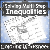 Solving Inequalities Coloring Activity {Solving Inequalities Christmas Activity}