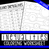 Inequalities Coloring Page