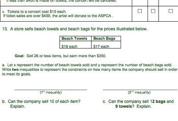 Solving Inequalities Common Core Bundle