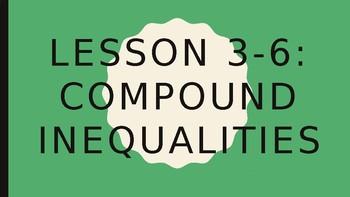 Solving Inequalities - Compound Inequalities