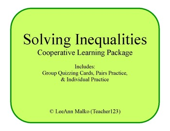 Solving Inequalities Cooperative Learning Package