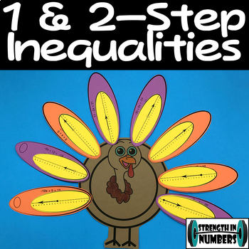 Solving Inequalities Cooperative Thanksgiving Turkey Activity/Puzzle