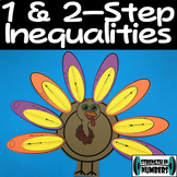Solving Inequalities Cooperative Thanksgiving Turkey Activ