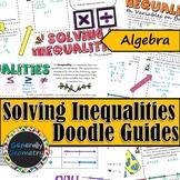 Solving Inequalities Doodle Guides; Algebra 1
