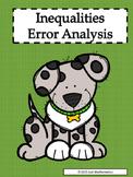 Inequalities Error Analysis