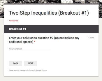 Solving Inequalities Breakout Mini Bundle – Perfect for Google Classroom!