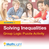 Solving Inequalities Group Logic Puzzle Activity | Good fo