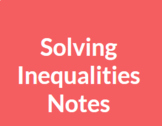 Solving Inequalities: Guided Learning Digital Resource