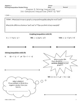 Solving Inequalities Guided Notes