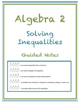 Solving Inequalities Guided Notes (Editable)