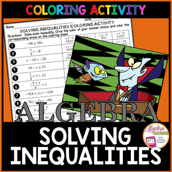 Solving Inequalities Halloween Coloring Activity