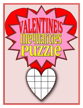 Solving Inequalities Heart Shaped Puzzle
