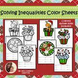 Solving Inequalities Holiday/Christmas Color Sheets