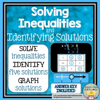 Solving Inequalities: Identify and Graph Solutions
