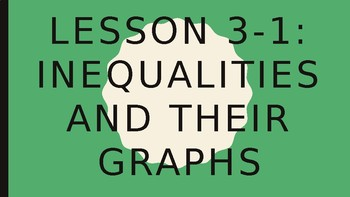 Solving Inequalities - Inequalities and Their Graphs